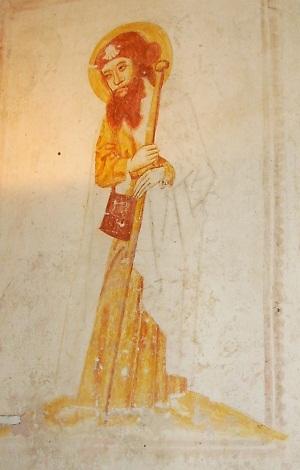 Muurschildering Jacobus te Buurmalsen