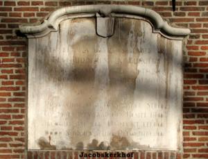 gedenkplaat aan de Jacobikerk in Utrecht