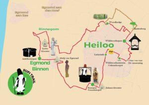 Kaart Sufitrail-driebronnenroute eiloo