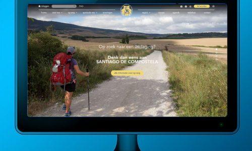 homepage website op tv-scherm